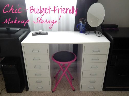 Chic & budget-friendly makeup storage solutions from Ikea, at A Thing of Beauty!