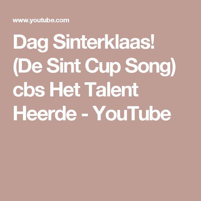 Dag Sinterklaas! (De Sint Cup Song) cbs Het Talent Heerde - YouTube