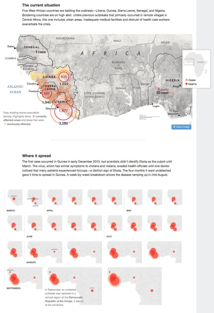 Ebola: Tracking the Outbreak by National Geographic  http://news.nationalgeographic.com/news/2014/09/140925-mapping-the-spread-of-ebola/
