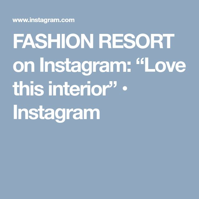 "FASHION RESORT on Instagram: ""Love this interior"" • Instagram"