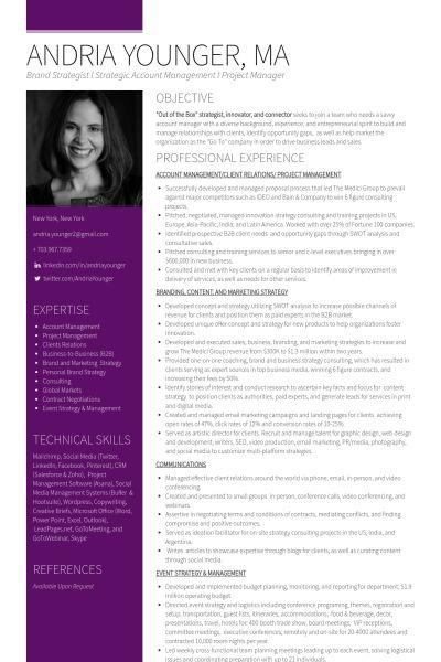 Image result for consultant resume samples Randomness - brand strategist resume