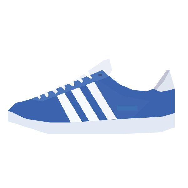 Illustration of the Adidas Gazelle model. #sneakers