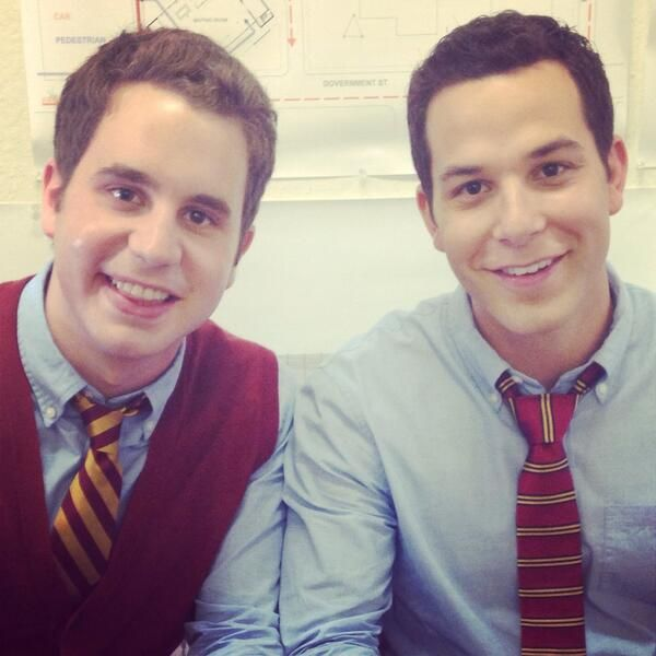 YAY! Ben Platt(Benji) & Skylar Astin(Jesse) are back! #Trebles #PitchPerfect2 | Via Ben Platt's twitter.