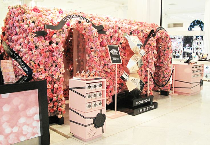 Victor and Rolf #flowerbomb #visual #merchandising #elemental #design #beauty #fragrance