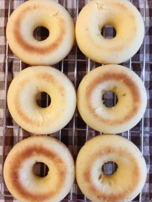 基本の♡シンプルふわふわ焼きドーナツ♡