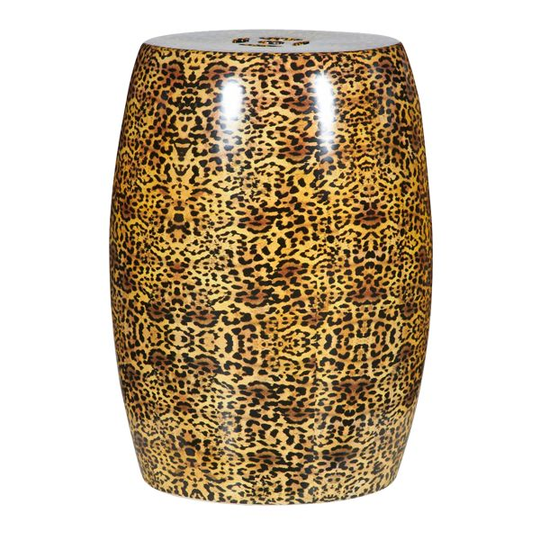 Cheetah Ceramic Garden Stool at Belleandjune.com