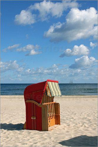 """Bild von Naturbilder - """"Strandkorb an der Ostsee"""""""