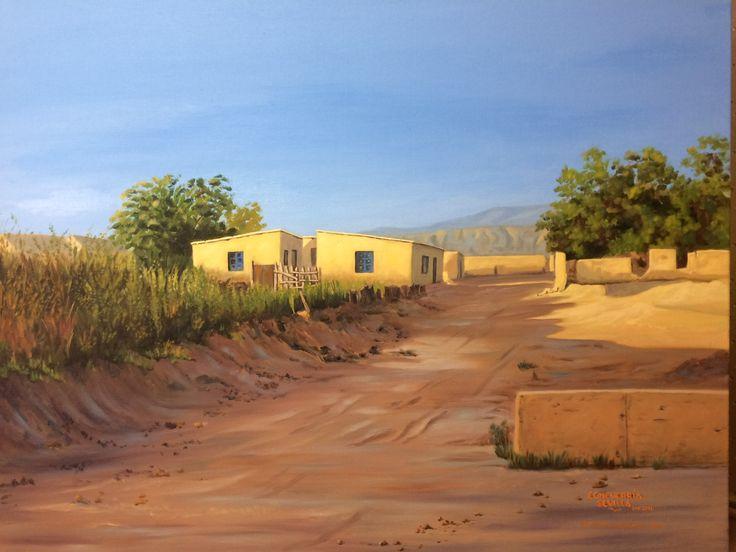 San Pedro de Atacama, Chile Óleo sobre tela 100 x 81 Luis Echeverría Sevilla