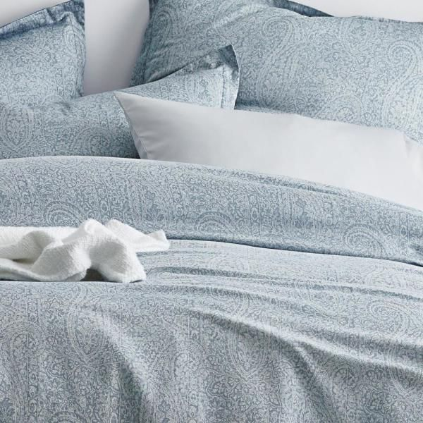 The Company Store Collins Blue Paisley Bamboo Full Duvet Cover 50434d F Blue The Home Depot In 2021 Full Duvet Cover Duvet Covers King Duvet Cover