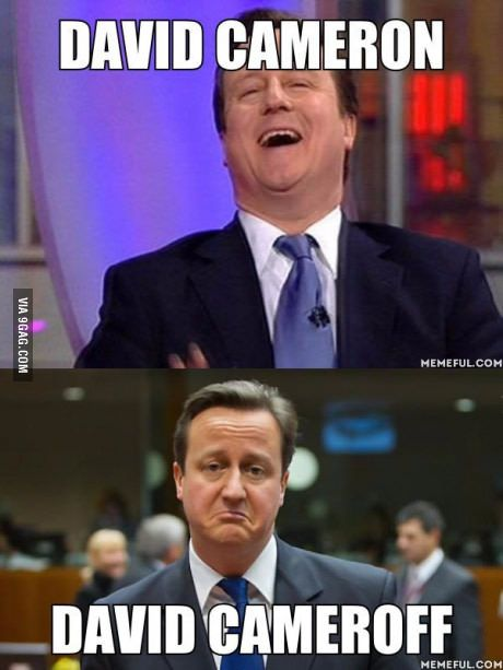 David Cameron after the results of the referendum.