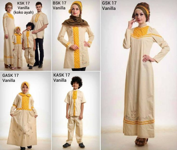 Baju Muslim Keluarga Azka 17 Vanila