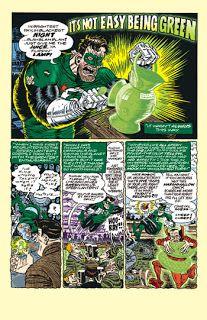 Green Lantern story page 1