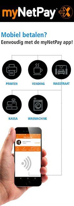 Check de nieuwe myNetPay app in de Play en App store! Eenvoudig en veilig betalen bij kassa, printer, koffieautomaat, wasmachine en wasstraat. De myNetPay app is onderdeel van Xafax Netpay®