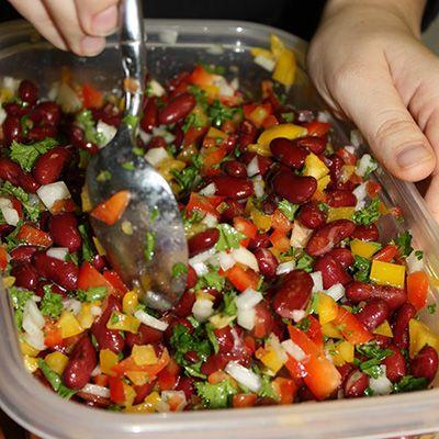 Mediterranean Inspired Kidney Bean Salad