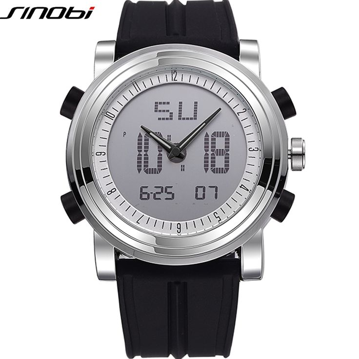 SINOBI Analog Digital Sport Watches For Men Silicone Mens Dual Time Zone Watch Luminous Male Wristwatch Relojes Hombre 2016♦️ B E S T Online Marketplace - SaleVenue ♦️ http://www.salevenue.co.uk/products/sinobi-analog-digital-sport-watches-for-men-silicon