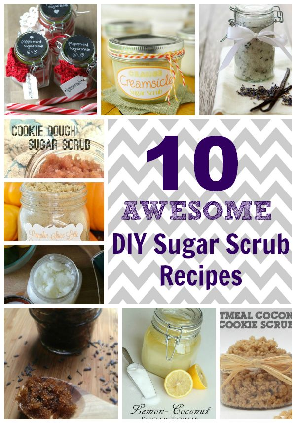 10 Awesome DIY Sugar Scrub Recipes - A wonderful curated collection of sugar scrub recipes that you can easily DIY. Give as gifts or make it for yourself for a little pampering on a budget!