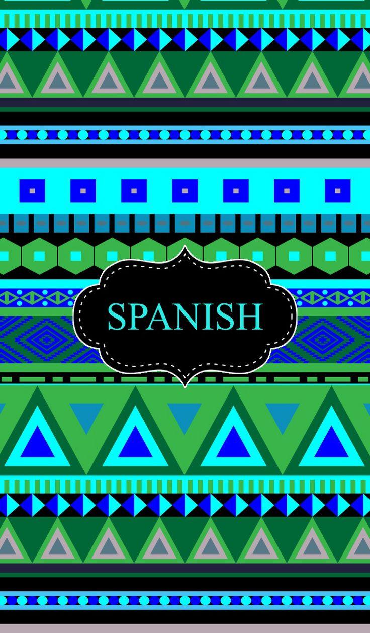 Spanish Binder Cover | School | Pinterest | Spanish and ...