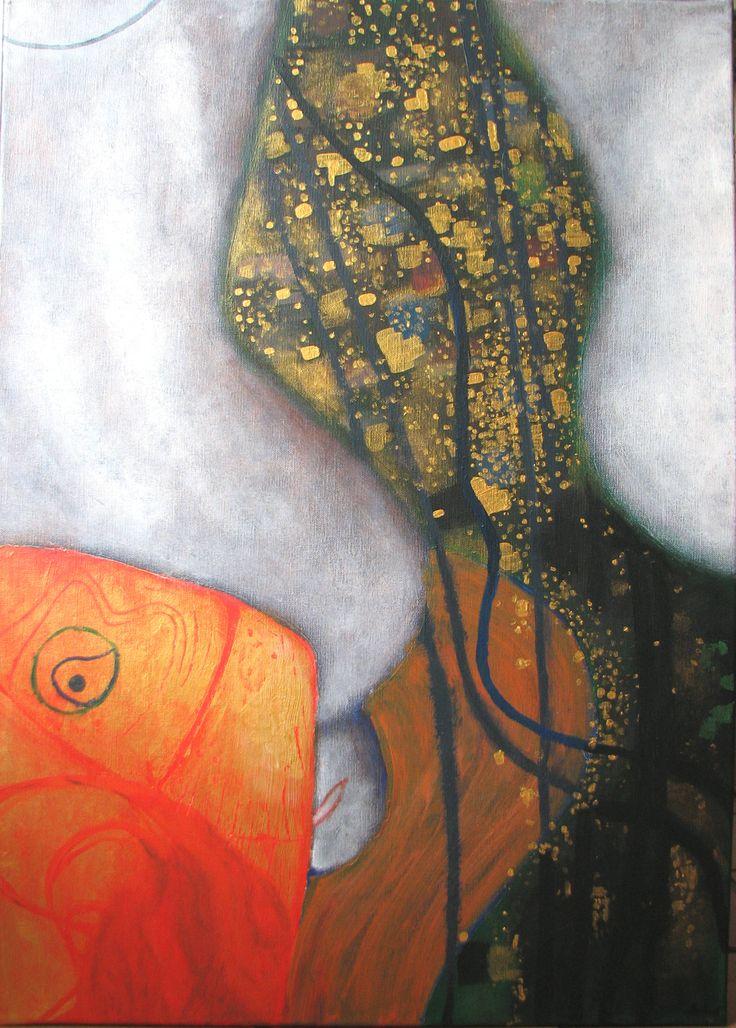 Poissons Rouges, Gustav Klimt Détail