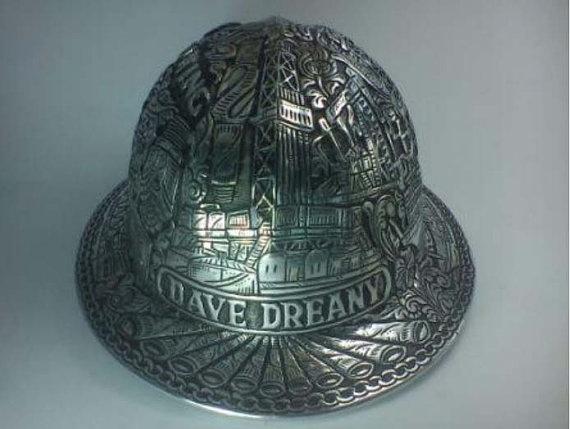 Vintage / Aluminum Full Brim Hard Hat / Hand by andriyulianto, $300.00