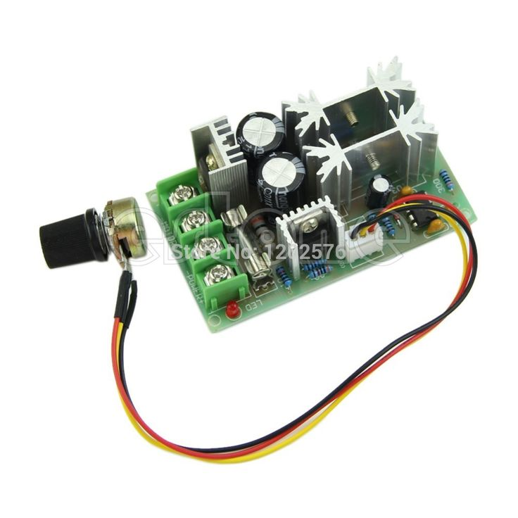 Universal DC10-60V PWM HHO RC Motor Speed Regulator Controller Switch 20A
