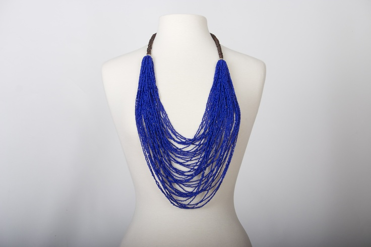 Cartagena necklace  Muti-strand Royal blue. Spring - Summer 2013  Handmade necklace  www.Cordobags.com