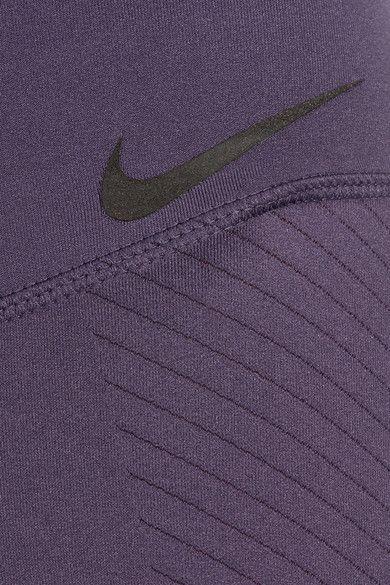 Nike - Zonal Strength Training Textured Dri-fit Stretch Leggings - Dark purple - x small