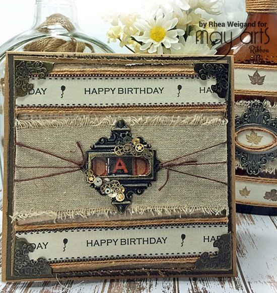 A Vintage Birthday Card Tutorial For Him   May Arts