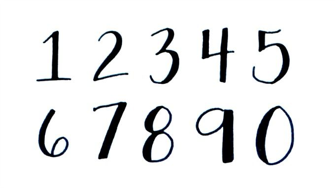 Add numerals to your hand lettering projects with this easy tutorial!