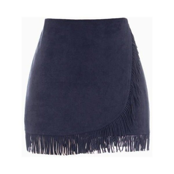 Wrap Skirt With Tassel (£37) ❤ liked on Polyvore featuring skirts, choies, wrap skirt and tassel skirt