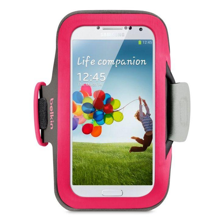 Belkin Slim-Fit Armband [Pink], Sportowy naramiennik dla GALAXY S4/S3