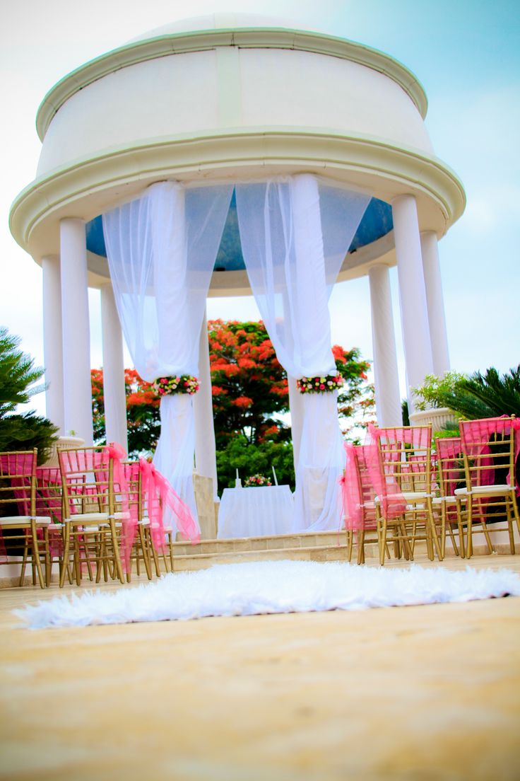 Ceremony set up at the wedding gazebo #dreamspuntacana # ...