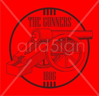 "My Work - T-Shirt Design ""The Gunners 1886"" 