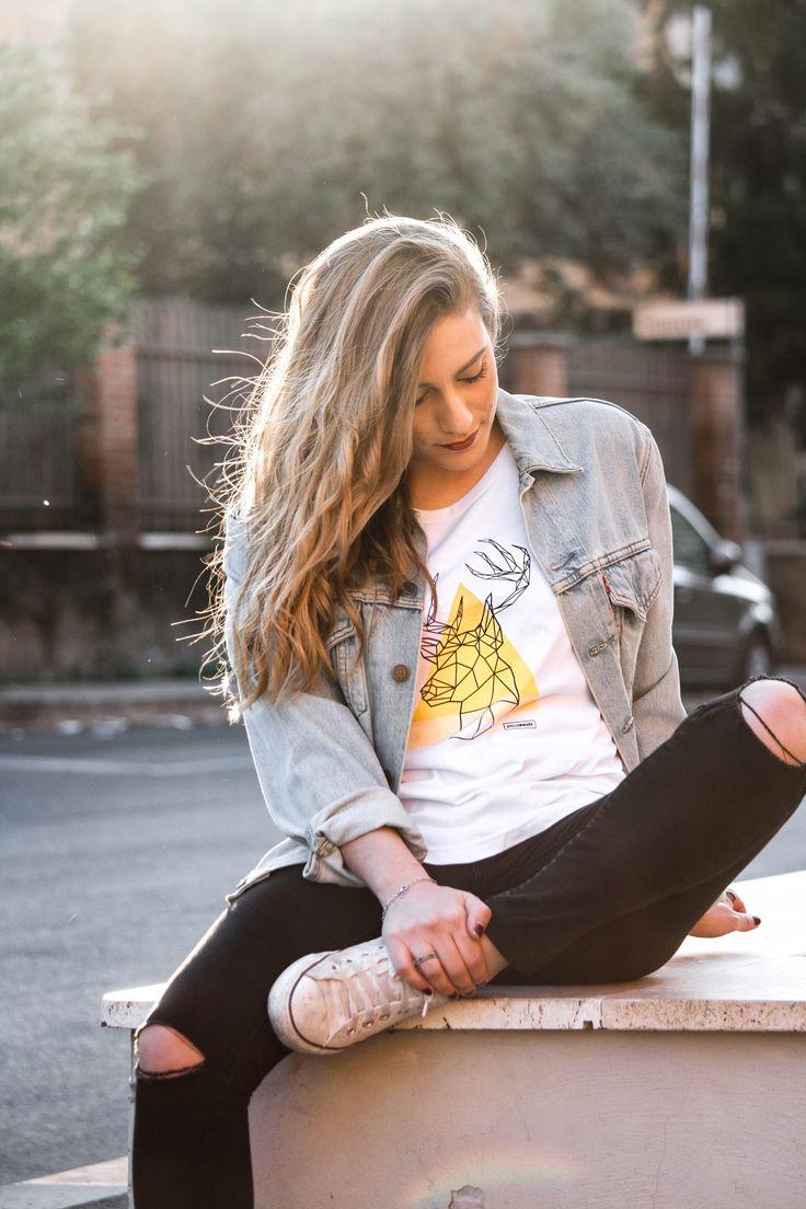 #madeinitaly #girl #women #woman #fashion #style #deer #ayellowmarktshirt