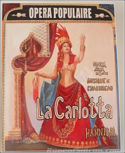 Hannibal poster in the Phantom of the Opera La Carlotta