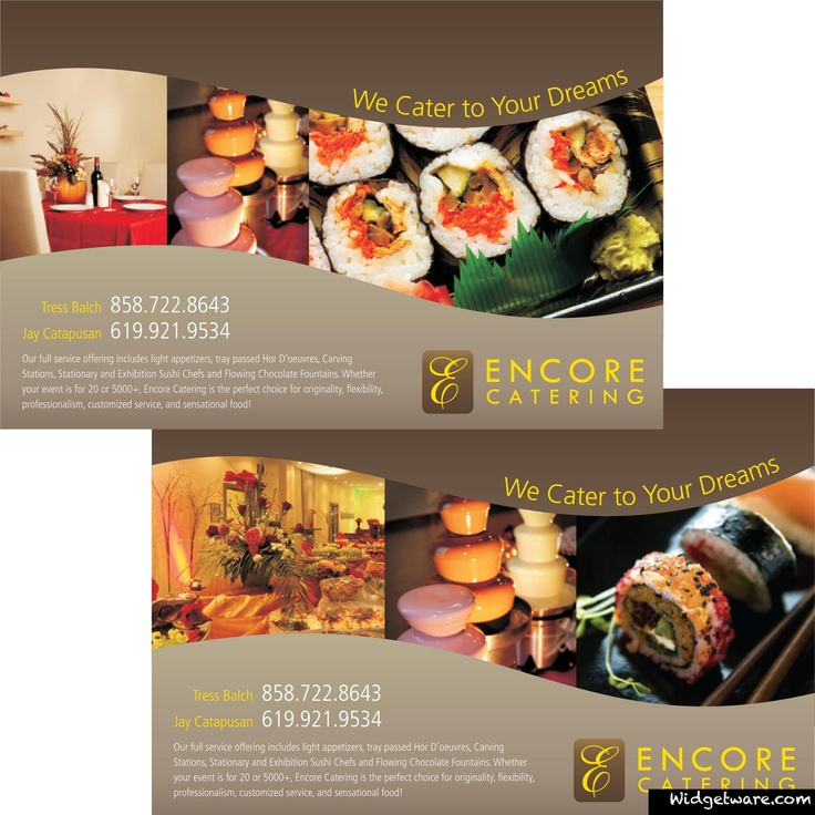 Encore Catering - Promotional Flyer we created. See more like it ...