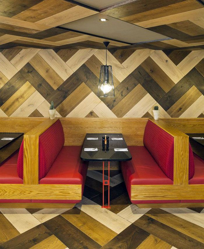 Mexican Restaurant By Brown Studio Mexican Restaurant Interior Wood Decor    Parquet Making A Welcome Return!