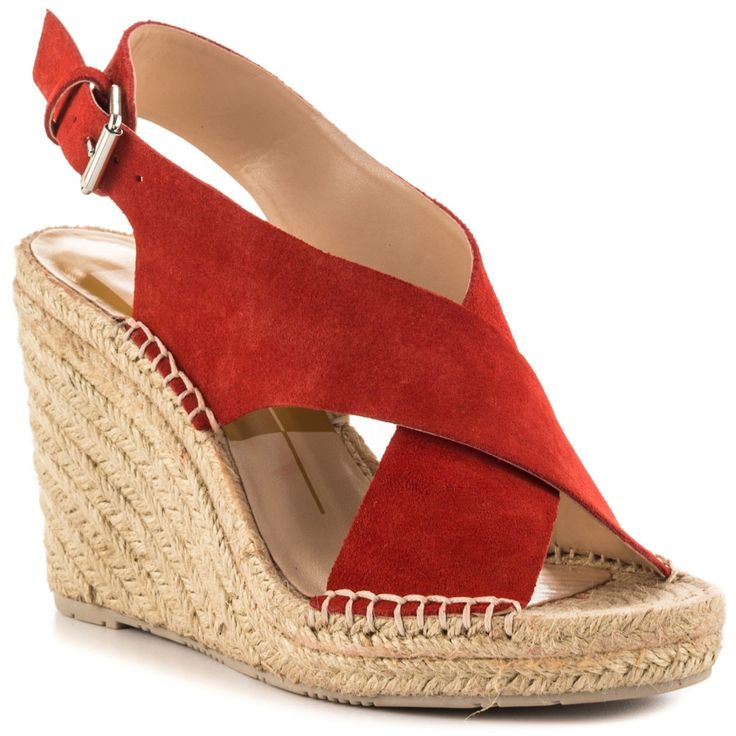 87.00$  Buy now - http://ali456.worldwells.pw/go.php?t=32585203578 - Coral Suede Straps Women Sandals Adjustable Back Buckle 4 Inch Wedge Shoes Comfortable Causal 3/4 Inch Platform Lady Shoes 2016