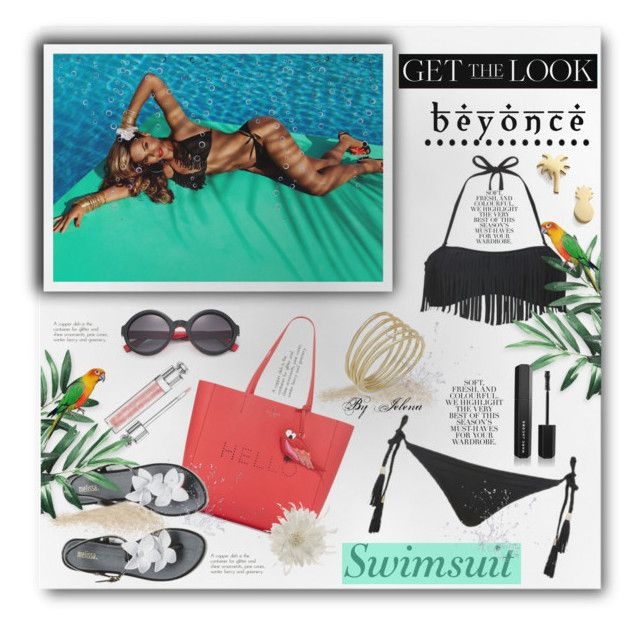 """""""Get the Look: Swimsuit Edition"""" by jelenalazarevicpo ❤ liked on Polyvore featuring H&M, Topshop, Folio, Kate Spade, Melissa, Tasha, Seoul Little, Lauren Ralph Lauren, Christian Dior and Fendi"""