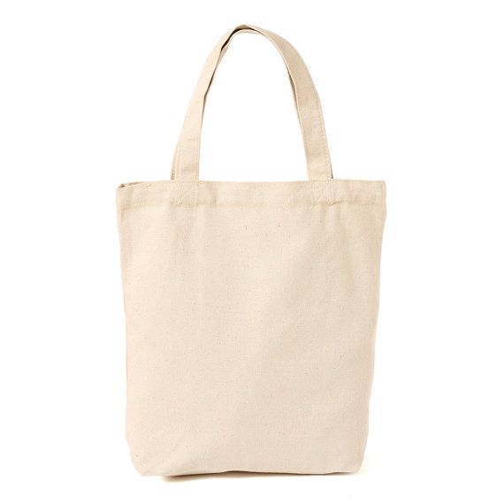 Blank Canvas Plain Tote Bag 100 Soft Heavyweight by CanvasAvenue