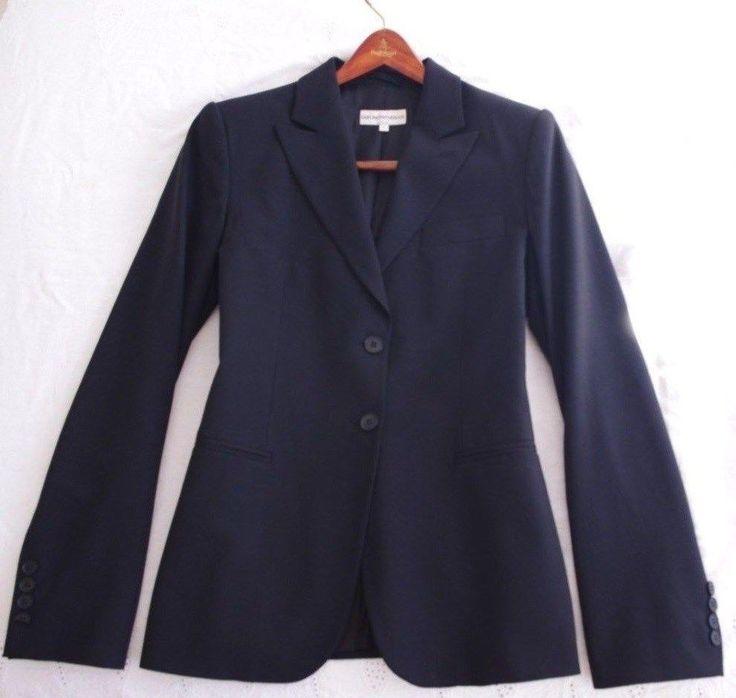 Emporio ARMANI Black Wool Suit Size 6 Made in Italy Classic Authentic #EmporioArmani #DressSuit