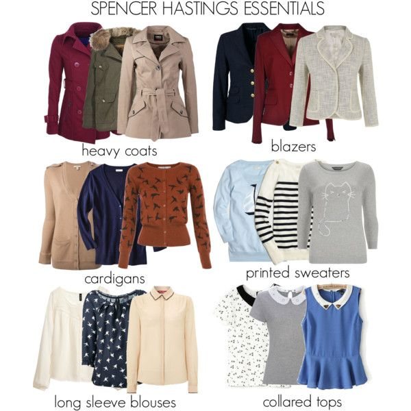 Spencer Hastings Essentials part 1 by liarsstyle on Polyvore featuring Dorothy Perkins, Uttam Boutique, JVL, MaxMara, Burberry, H&M, Bershka, J.Crew, Paul Smith and Nina Ricci