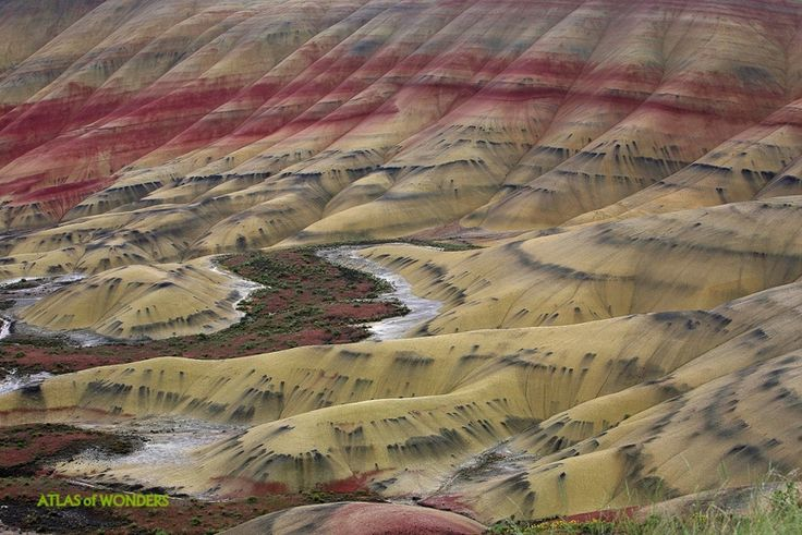 Cartoon Mountains: The Painted Hills in Oregon ~ Atlas of Wonders