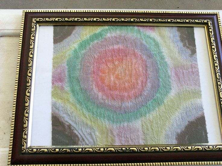 water colour and papertowel $15 includes frame
