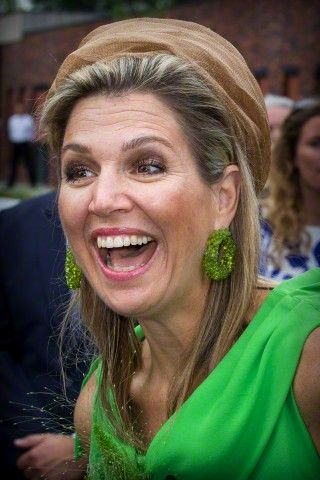 Dutch Queen Maxima attends the official opening of the new nursing center 't Hamrik in Nieuwolda, The Netherlands, 07 July 2015.      Dutc...