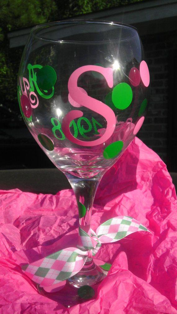 AKA Sorority Glass Crossing Gift by JSKoutureDesigns on Etsy, $11.00