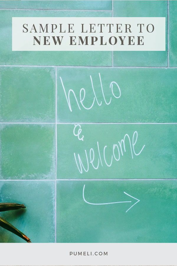 how to write a welcome letter to new employee hr pinterest new employee onboarding checklist and lettering