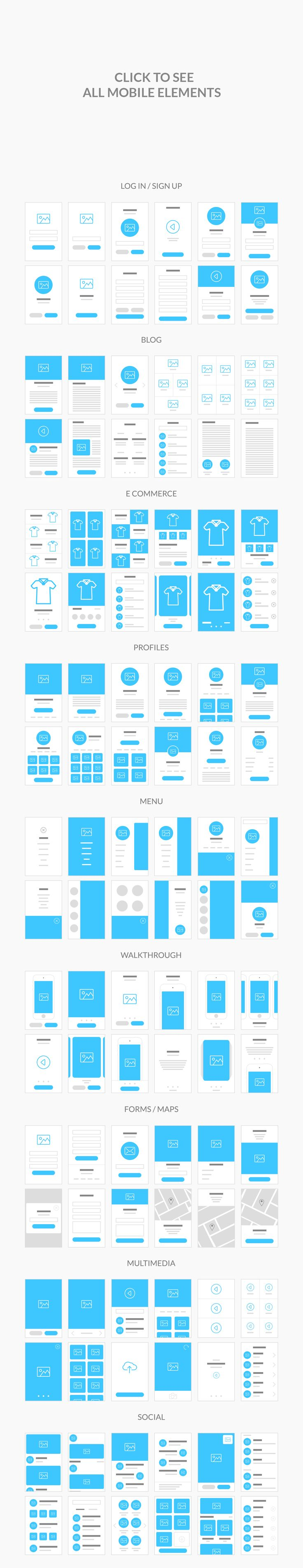Flowy Flowchart Elements #ux #flowchart #wireframe 	#websiteflowchart #webflowchart #mobileflowchart #appflowchart	#web #website #app #scheme #site #sitemap #flow #userflow #flowcharts #photoshop