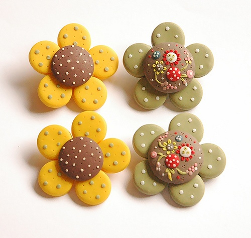 BLOOM IN GREEN brooches and necklace by Eva Thissen Gallery, via Flickr