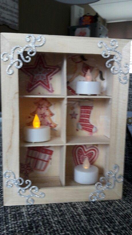 Kerst kistje met servetten