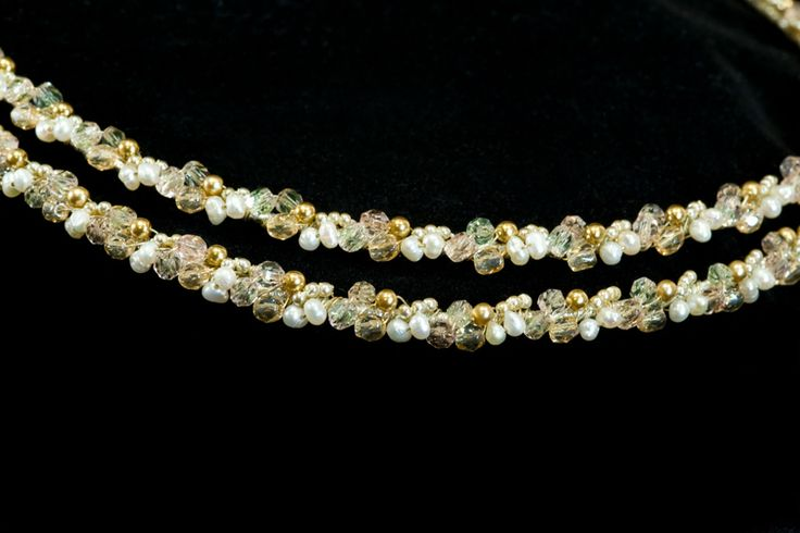 Greek Wedding Shop - Gold Swarovski Crystal and Pearl Stefana, $190.00 (http://www.greekweddingshop.com/gold-swarovski-crystal-and-pearl-stefana/)